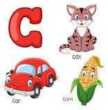 Alfabeto dos desenhos animados C ilustração royalty free