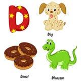 Alfabeto dos desenhos animados D Imagem de Stock Royalty Free
