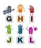 Alfabeto dos desenhos animados - G a L Fotos de Stock Royalty Free
