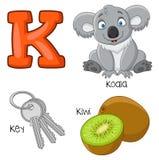 Alfabeto dos desenhos animados K ilustração do vetor