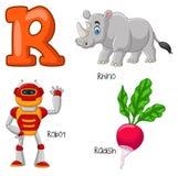 Alfabeto dos desenhos animados R ilustração royalty free