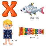 Alfabeto dos desenhos animados X ilustração royalty free