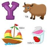 Alfabeto dos desenhos animados Y ilustração do vetor