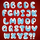 Alfabeto dos flocos de neve do Natal Fotografia de Stock Royalty Free