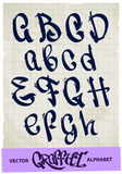Alfabeto dos grafittis Imagens de Stock Royalty Free