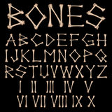 Alfabeto dos ossos  Imagens de Stock Royalty Free