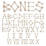 Alfabeto dos ossos  Imagem de Stock Royalty Free