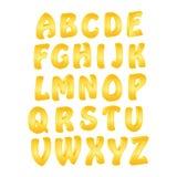 Alfabeto dourado 3d Foto de Stock Royalty Free