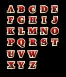 Alfabeto dourado do estilo ilustração stock