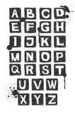 Alfabeto drenado mano. ilustración del vector