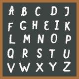 Alfabeto drenado mano Imagen de archivo libre de regalías