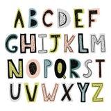 Alfabeto drenado mano stock de ilustración