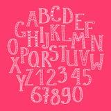 Alfabeto drenado mano del doodle Fotos de archivo libres de regalías