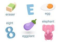 Alfabeto E stock de ilustración