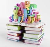 Alfabeto e libri Illustrazione Vettoriale