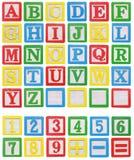 Alfabeto e números imagens de stock