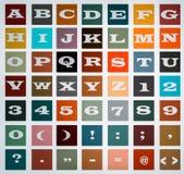 Alfabeto e números, arquivo do Eps dos blocos dos símbolos disponível ilustração royalty free