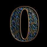 Alfabeto e números de Diamod 3D Ilustração do Vetor