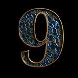 Alfabeto e números de Diamod 3D Ilustração Royalty Free