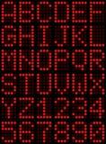 Alfabeto e numeri Fotografie Stock Libere da Diritti