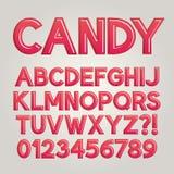 Alfabeto e numeri rosa astratti dell'ombra Fotografia Stock Libera da Diritti