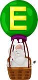 Alfabeto E per l'elefante illustrazione di stock