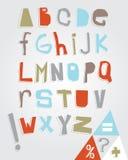 Alfabeto e pontuação rústicos Imagem de Stock
