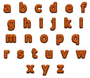 Alfabeto eccellente dei mattoni, isolato su bianco Fotografia Stock