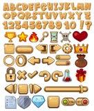 Alfabeto ed icona del gioco Fotografie Stock Libere da Diritti
