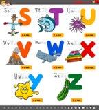 Alfabeto educativo de la historieta fijado para los niños libre illustration