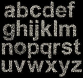 Alfabeto efervescente feito de estrelas de brilho, letras Imagens de Stock Royalty Free