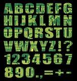 Alfabeto eletrônico com letras Fotos de Stock Royalty Free