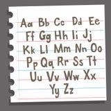 Alfabeto en cojín de la composición Foto de archivo libre de regalías