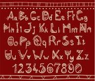 Alfabeto en estilo étnico africano Imagen de archivo libre de regalías