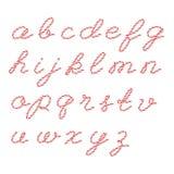 Alfabeto en estilo de la guita de los panaderos Imagen de archivo