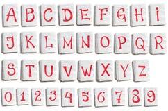 Alfabeto en paginaciones del cuaderno imagen de archivo