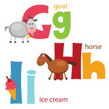 Alfabeto engraçado 4 Foto de Stock