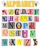 Alfabeto engraçado das crianças Fotografia de Stock Royalty Free