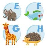 Alfabeto engraçado dos desenhos animados do vetor Foto de Stock