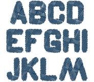 Alfabeto esboçado am Fotografia de Stock