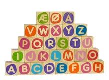 Alfabeto escandinavo Imagem de Stock Royalty Free