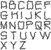 Alfabeto espinhoso Imagens de Stock Royalty Free