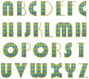Alfabeto estilizado del vector Imagen de archivo libre de regalías