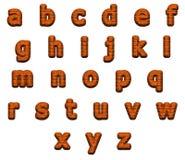 Alfabeto excelente de los ladrillos, aislado en blanco Fotografía de archivo