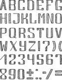 Alfabeto exhausto stock de ilustración