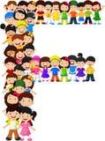 Alfabeto F do formulário das crianças ilustração stock