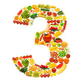 Alfabeto fatto delle frutta e delle verdure Fotografie Stock