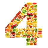 Alfabeto fatto delle frutta e delle verdure Immagini Stock Libere da Diritti