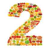 Alfabeto fatto delle frutta e delle verdure Fotografie Stock Libere da Diritti