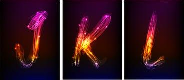 Alfabeto fatto di luce al neon Fotografia Stock Libera da Diritti